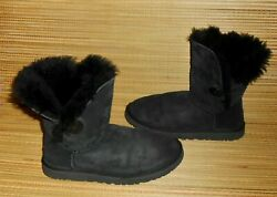 Ugg Womens Bailey Button Black Boots Size 8 #5803 $40.00
