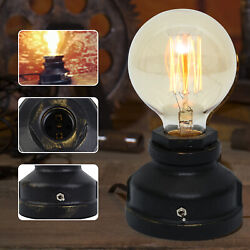 Portable Table Lamp Base Bedside Nightstand Lamp Small Industrial Table Light $23.97