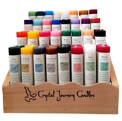 Crystal Journey Herbal Magic Reiki Charged 7quot; Pillar Candle Handcrafted in USA $12.55