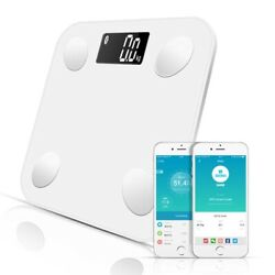 Bluetooth body scales floor weight bathroom smart display fat water muscle mass $56.11