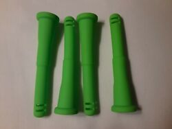 4 Pack 14mm Green Silicone Diffuser Downstem 4quot;long for Waterpipes $9.25
