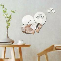 Removable Mirror Personalised Love Hearts Bedroom Wall Art Sticker Decal Decor $7.78