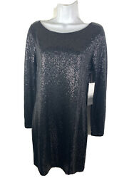 Kensie NEW Black Sequin Dress Size Medium Women#x27;s