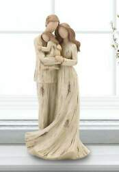 Rustic Family with Baby Statue Figurine Spiritual Decor Family Sculpture Gift $30.87