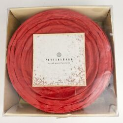 Pottery Barn Set 10 Chinese Paper Lanterns 8quot; Round Red Open Box $14.95