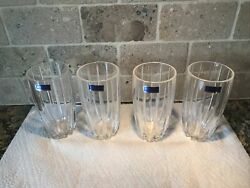 OMEGA Waterford Crystal Drinking Highball Glasses Set of 4 $68.00