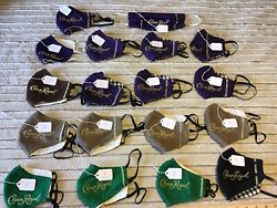 Crown Royal Handmade Fabric Masks. Sold by the piece. $4.00