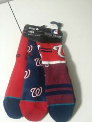 Washington Nationals Toddler Stance 3 Pair Socks Size 7 9 New With Tag Msrp $30 $15.00