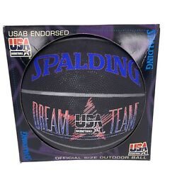 Vintage Dream Team USA Olympic Spalding Outdoor Basketball in Box 1994 $49.95