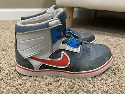 Nike Size 2.5 Y Boys High tops Red White Blue Gray 603272 464 $13.50