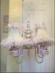Ceramic Frog Chandelier And Lamps Set by Just Too Cute Child Room Nursery decor $1500.00