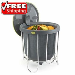 Polder Kitchen Composter Flexible silicone bucket inverts for emptying and clean $42.52