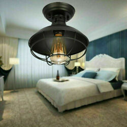 Metal Orb Chandelier Lamp Globe Cage Ceiling Pendant Light Round Hanging Fixture $46.55