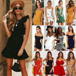 Womens Summer Casual Bodyson Mini Dress Evening Party Cocktail Holiday Dresses $11.68