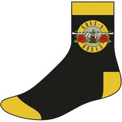 Guns N Roses Men#x27;s Circle Logo Size 8 12 Socks One Size Black $16.29