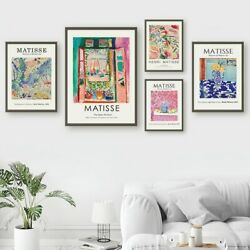 Henri Matisse Retro Abstract Wall Art Canvas Painting Nordic Posters And Prints $4.74