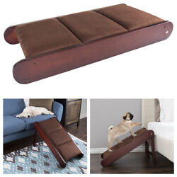 Foldable Wooden Pet Ramp Freestanding Cat Dog Wood Steps Ladder Stairs High Bed $49.95