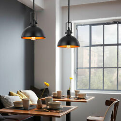 Rustic Copper Barn Pendant Light Kitchen Ceiling Lamp with Metal Dome Shade $38.00