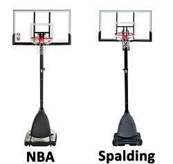 Spalding NBA 54 Portable Angled Basketball Hoop with Polycarbonate Backboard New $280.50