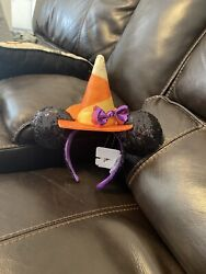 Disney Minnie Mouse Halloween Witch Sequined Ear Headband $12.00