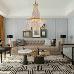 Gold CRYSTAL CHANDELIER FRENCH EMPIRE LARGE FOYER GOLD CEILING LIGHTING Bedroom $195.04
