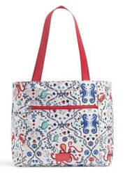Vera bradley ReActive Drawstring Family Tote Sea Life.So Cute For The Beach NWT
