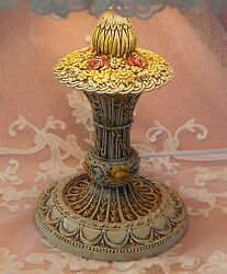 ****ANTIQUE LAMP amp; CUSTOM SHADE SMALL FLORAL IMPRESSED METAL BEAUTIFUL CONDITION $145.00