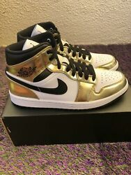 "Air Jordan 1 Mid ""Gold"" size 12 $159.99"