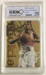 1996 97 NBA Hoops Gold Foil Allen Iverson #12 of 30 GEM MINT 10 ROOKIE 76ers $89.99