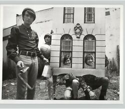 THE MONKEES Band w HOUSE COSTUME Funny Skit Pop Music TV 1960s Press Photo $40.00