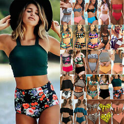 Women High Waisted Bikini Set Swimwear Push Up Padded Bra Swimsuit Bathing Suits $15.19