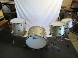 Gretsch Brooklyn USA Creme Oyster 4 Piece Drum Kit New $2400.00