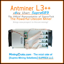 BITMAIN ANTMINER L3 L3 504 Mh sLitecoin Scrypt Miner STOCK or MODED to 650MH $675.00