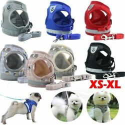 XS XL Pet Small Dog Puppy Harness Breathable Mesh And Leash Set Vest Chest Strap $8.54