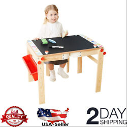 TOP BRIGHT Wooden Art Easel for Kids Art Table with Storage Easel Desk for Todd $144.99