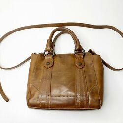 Frye $278 Melissa Mini Leather Tote Crossbody Cognac Brown Buttery Soft $62.30