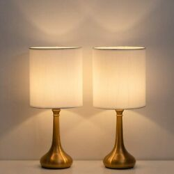 Bedside Table Lamps Modern Simple Nightstand Lamps Set of 2 for Bedroom office $30.99