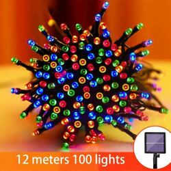 12M 100LED Solar Power Fairy Light String Lamp Party Xmas Decor Outdoor Indoor $9.30
