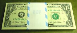 2003 quot;Kquot; Dallas $1 STAR PACK Fresh W BEP Strap $100FV 100 Consecutive Notes $230.00