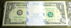 2003 $1 G* Chicago star pack 100 notes $210.00