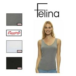 SALE Felina Cotton Modal Reversible Tank Top 4 Pack VARIETY SIZE amp; CLR L52 $19.95