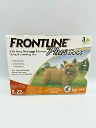FRONTLINE Plus for Small Dogs 5 22 lbs Flea and Tick Treatment 3 Doses New $29.99