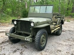 Early 1942 Willys MB WWII Military Jeep G503 GPW Ford 1943 1944 1945 Bantam MA $44650.00
