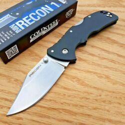 Cold Steel Mini Recon 1 Folding Knife 3quot; AUS 10A Steel Blade Black GRN Handle $67.99