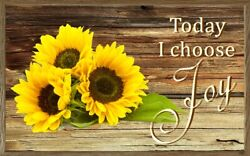 Choose Joy sign plaque gift sunflowers happiness choice rustic wall decor $14.99