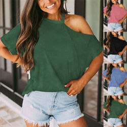 Summer Plus Size Womens Short Sleeve Tops T Shirt Casual Solid Blouse Basic Tee $16.59