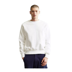 Champion Reverse Weave Fleece Crew Neck Sweatshirt off white $18.99