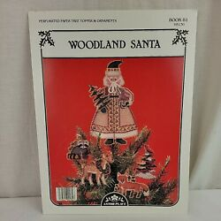 WOODLAND SANTA #81 Perforated Paper Tree Topper Ornaments Patterns Astor Place $12.99