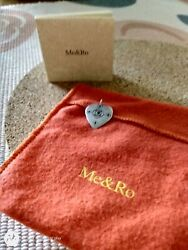 Me amp; Ro Sterling Silver Ruby gemstone large Heart Tag Pendant. Pendant only.EUC $175.00