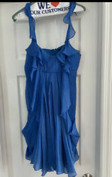 Blue BCBG cocktail dress With Pockets. Size 4.